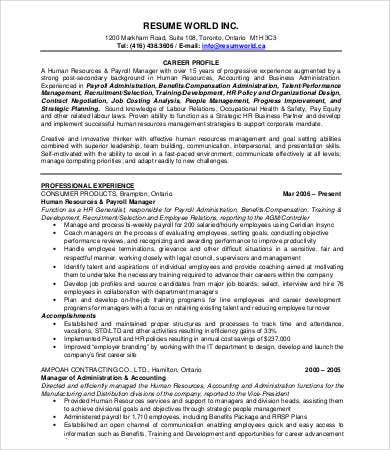 Hr Director Resume Hr Executive Resume Sample Hr Executive Resume
