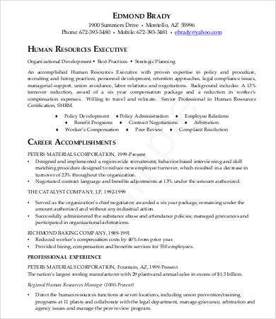 Hr Resumes - 9+ Free Word, Pdf Documents Download | Free & Premium