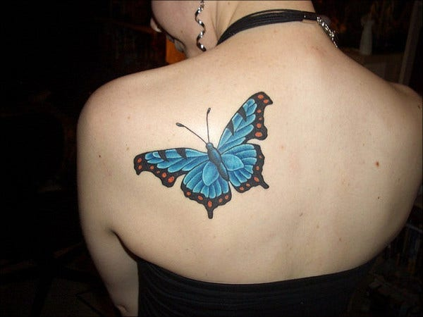 Free butterfly Tattoo Design