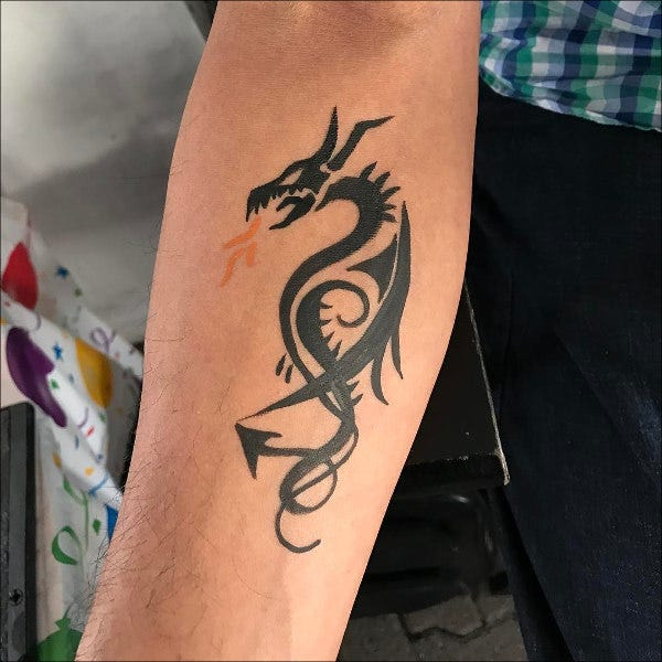 Free dragon Tattoo Design