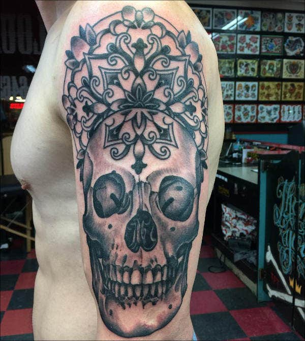 Free skull Tattoo Design