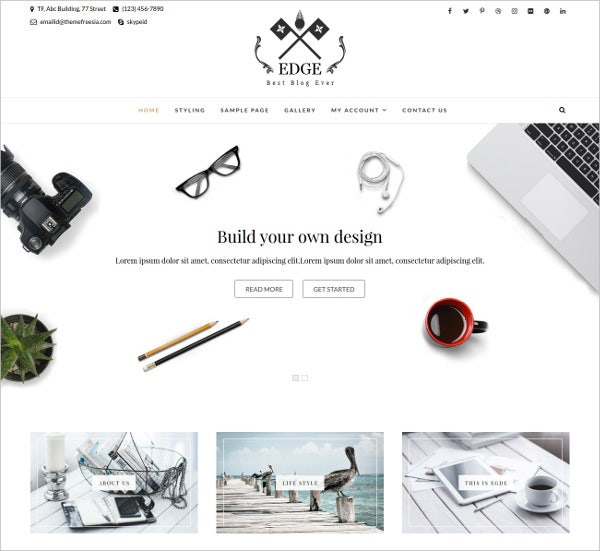 Professional Blog WordPress Theme