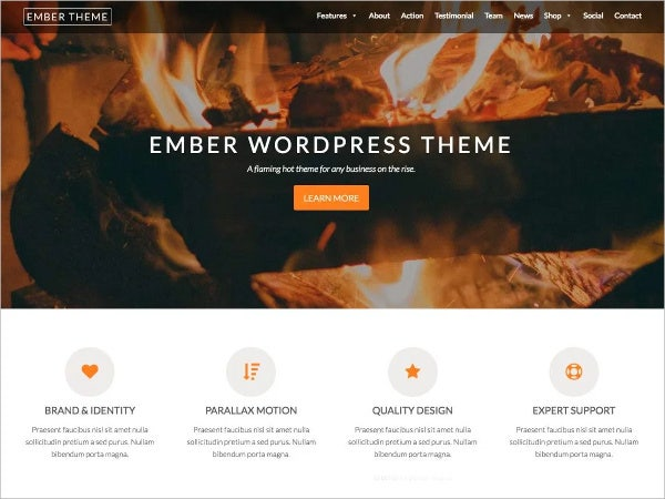 Free Parallax WordPress Theme