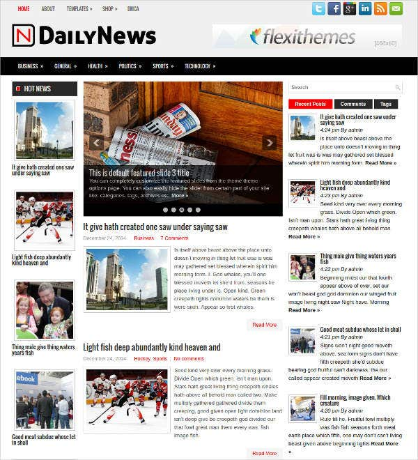 Free News WordPress Theme