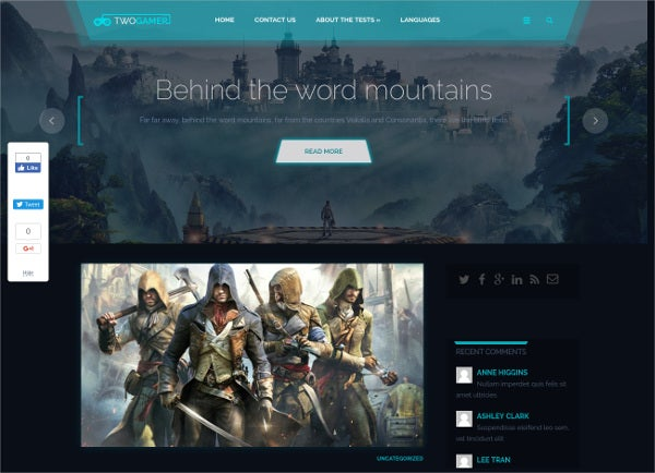 Free Gaming WordPress Theme