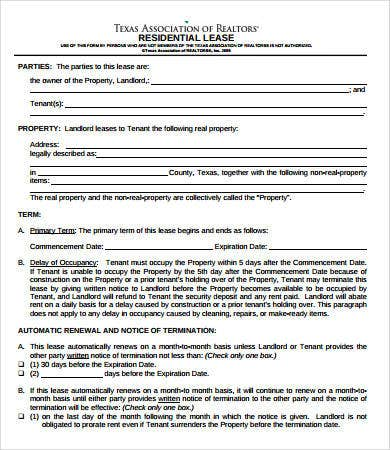 Simple Lease Agreement 9 Free PDF Word Documents Download Free