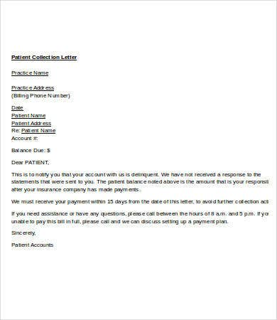 collection letter template 7 free word pdf format download