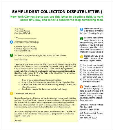 collection dispute letter template1