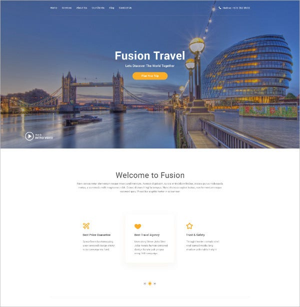 PSD Travel Agency Website Template
