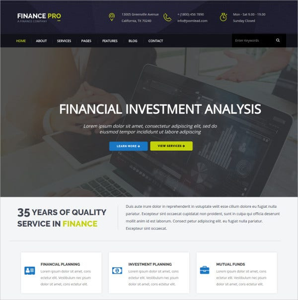 free business joomla template