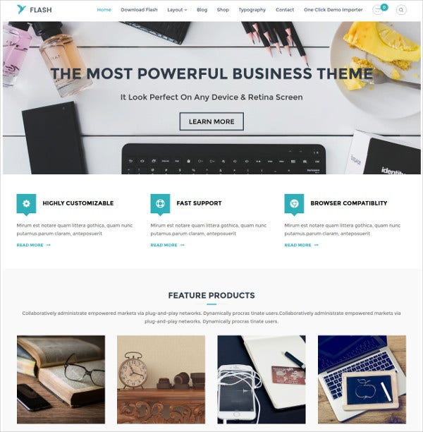 flexible multipurpose theme