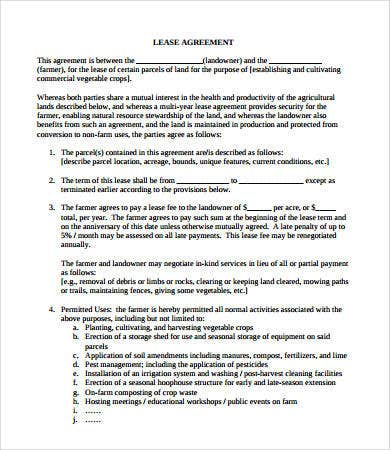 Simple Lease Agreement - 9+ Free Pdf, Word Documents Download