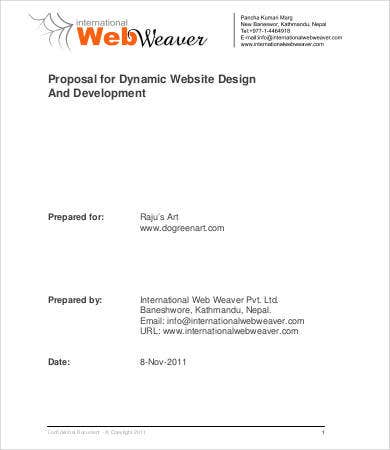 website development and design proposal