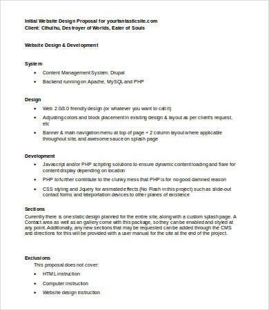 Website Design Proposal 8 Free Word Pdf Documents Download
