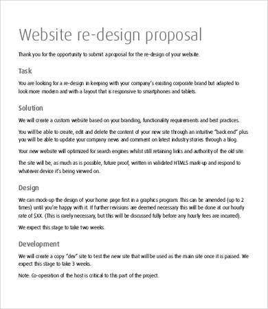 website re design concept proposal
