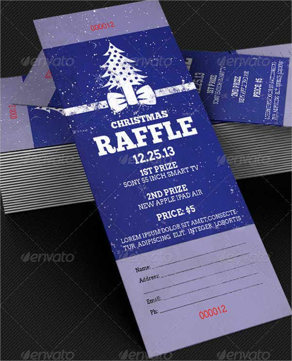 Christmas Party Ticket Template Free: 9+ Free PSD, Vector AI, EPS Format