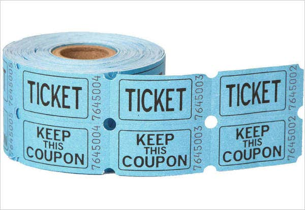 Double Roll Raffle Tickets