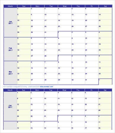 Free Printable Weekly Calendar Template - 11+ Free Pdf Documents