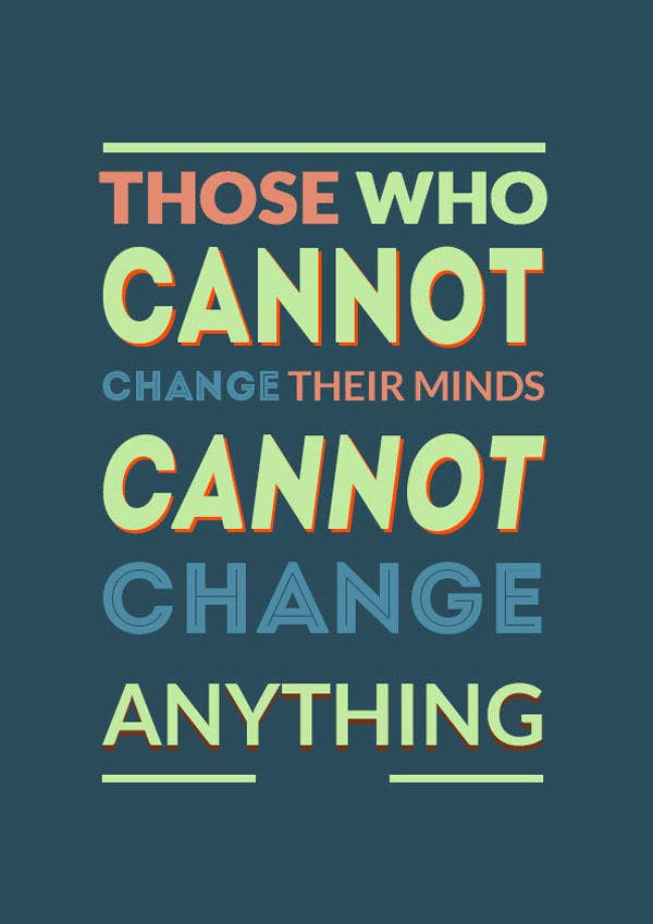 Motivational Quote Typographic Poster