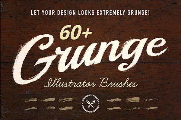 grunge illustrator brushes