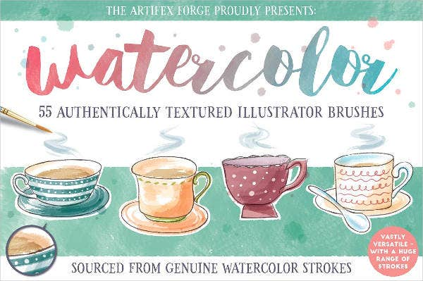 watercolor illustrator brushes