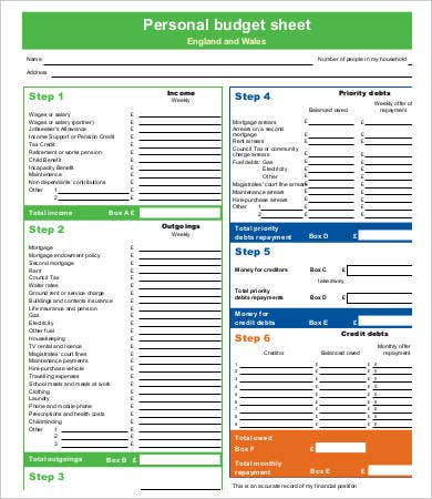 photo about Printable Budget Template titled Printable Finances Template - 11+ No cost PDF Data files Down load