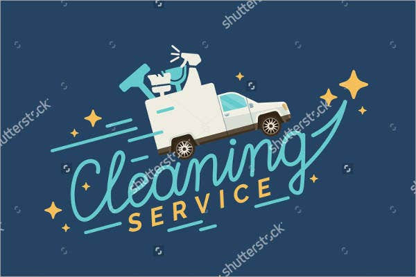 vector cleaning service logo