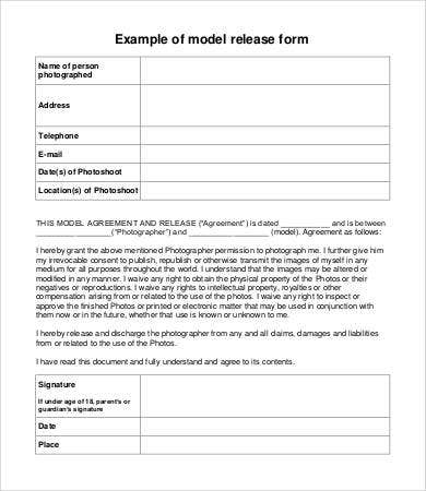 Model Release Form Template - 8+ Free Sample, Example, Format