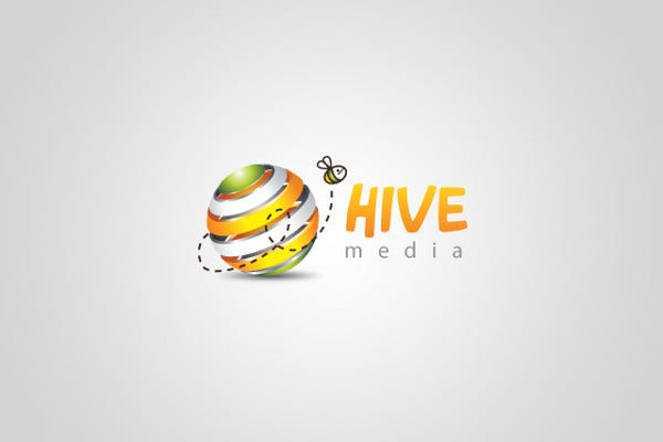 Hive Media Colorful Logo