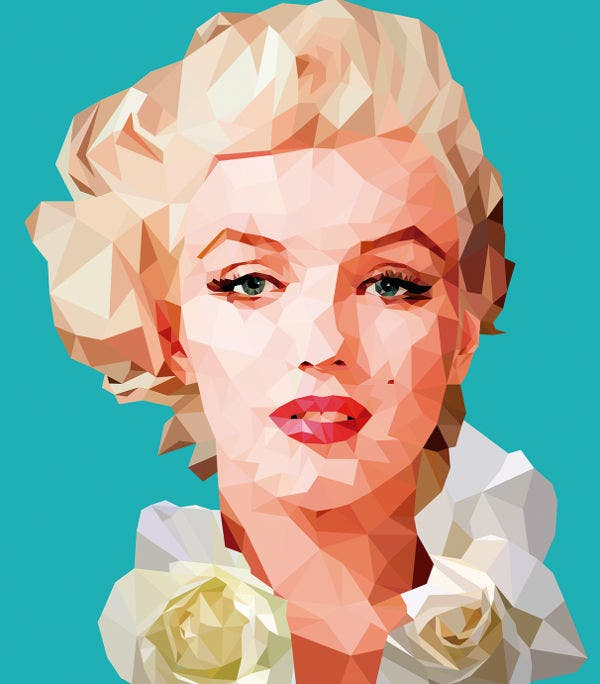 Marilyn Monroe Poly Illustration