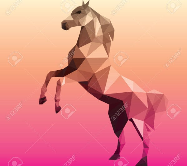 Horse Polygonal Geometric Illustration