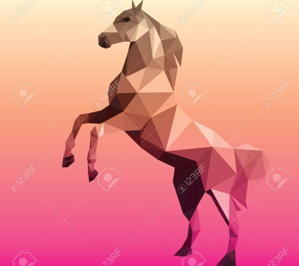 horse polygonal geometric illustration