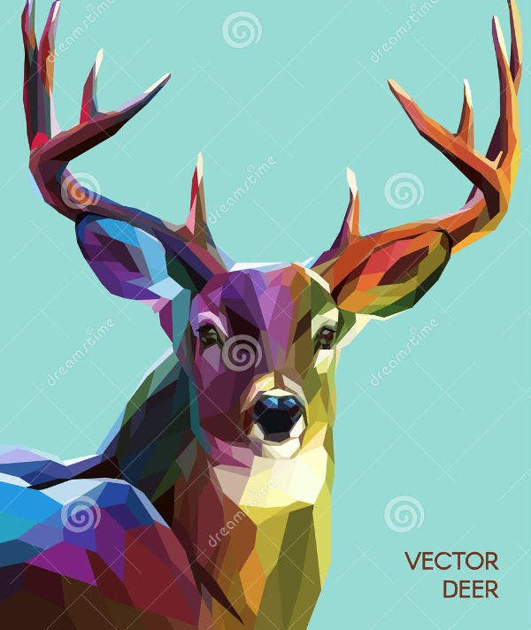 Deer Polygonal Illustration