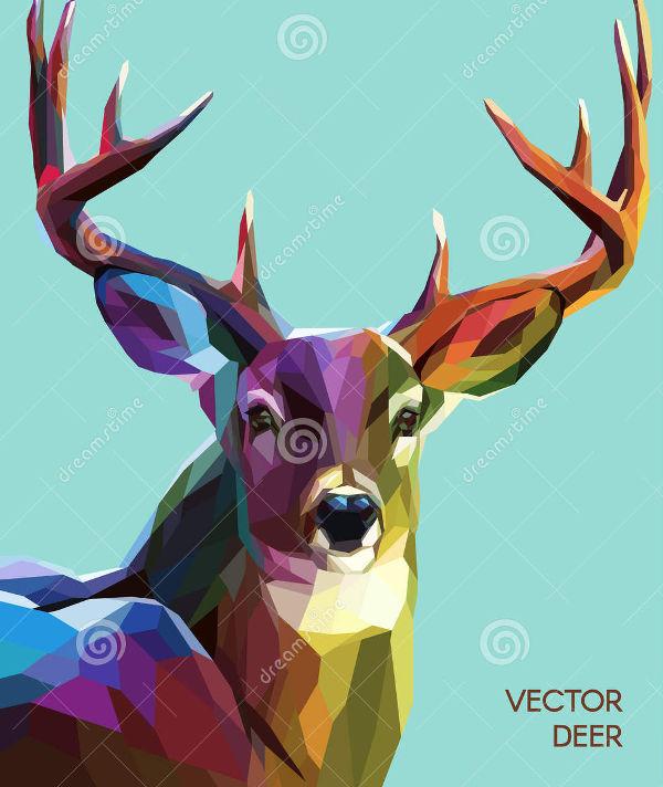 deer polygonal illustration