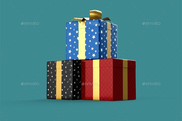 surprise gift box mock up