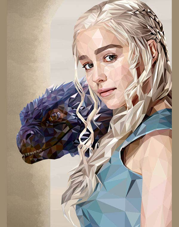Beautiful Girl with Dragon