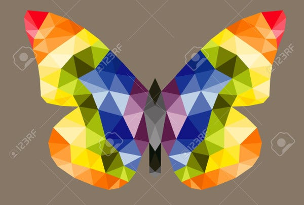 Abstract Polygonal Butterfly Illustration