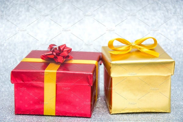Holiday Gift Box Mockup