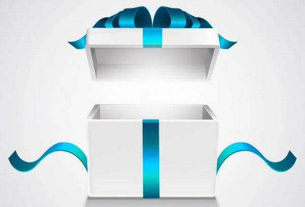 Free Vector Open Gift Box