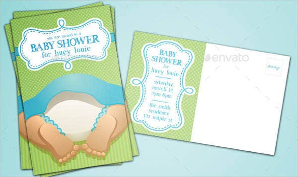 Baby shower Postcard Invitation