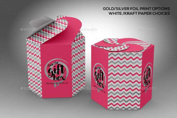 Creative Gift Box Mockup