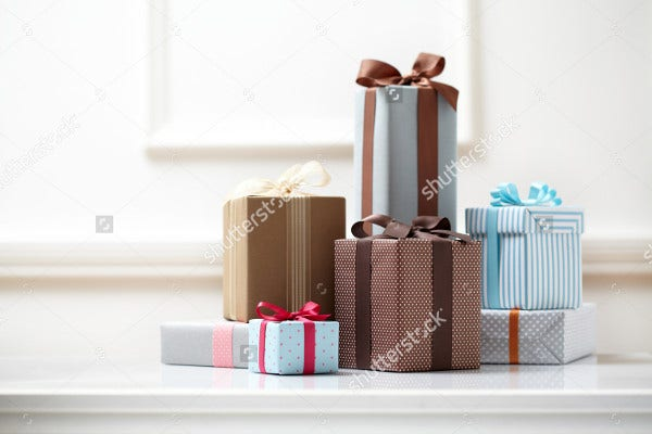 Colorful Gifts Box Mockups