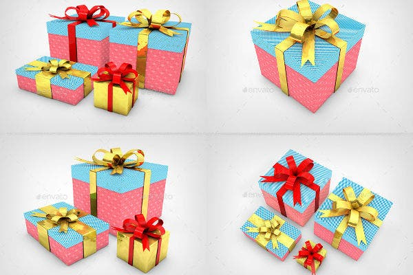 Christmas GiftBox Mockups