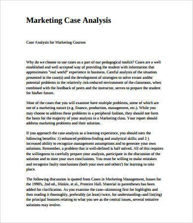 Case Analysis Format   Free Pdf Documents Download  Free