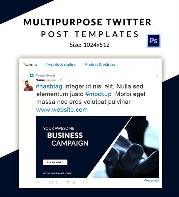10 free twitter post templates business fashion marketing multipurpose twitter pronofoot35fo Choice Image