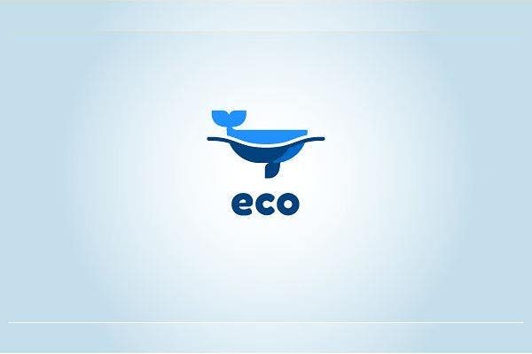 eco friendly whale logo