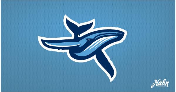 modern blue whale logo