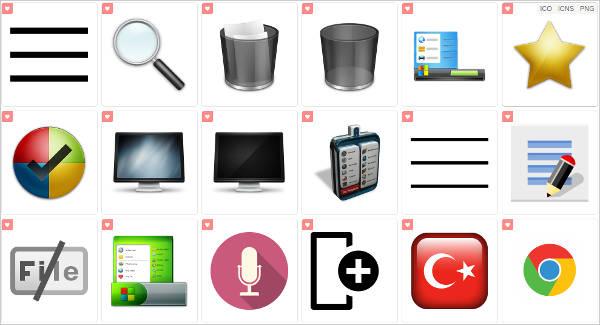 Minimalist Menu Icons