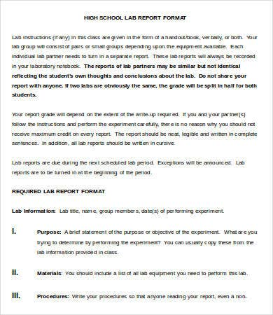 formal lab report help Formal labora tory rep ort prelab before coming to the lab each student must be prepared formal lab report.