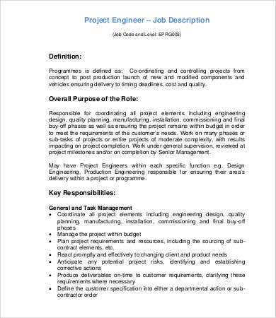 project engineer job description automotiveipcouk - Production Engineering Job